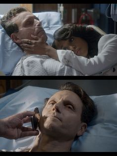 "Fitz is shot and in a coma. Olivia visits him in the hospital and crawls into bed with him. Later, Olivia gets a phone call. It is Fitz. He is awake. And she's the first person he calls. ""Hi."" —Fitz  ""Hi!"" —Olivia."