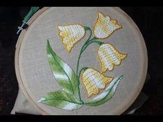 (73) Hand Embroidery | Burden stitch | Stitch and Flower-132 - YouTube