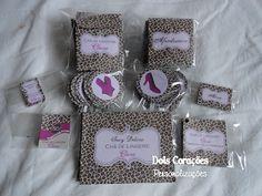 Dois Corações Personalizações: Chá de Lingerie - Oncinha e Pink