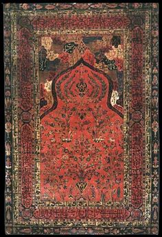 Persian Tabriz prayer rug, 19th century
