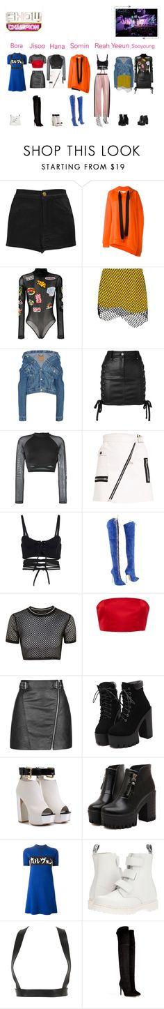 """""""Goodbey Stage   Meow (야옹) - Stay Wild (와일드)"""" by meowofficial ❤ liked on Polyvore featuring Boohoo, Marques'Almeida, Dilara Findikoglu, GCDS, Balenciaga, Versus, Reebok, Puma, Casadei and Topshop"""