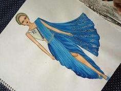 Dress Design Drawing, Dress Design Sketches, Fashion Design Sketchbook, Fashion Design Drawings, Fashion Illustration Poses, Dress Illustration, Fashion Model Sketch, Fashion Sketches, Fashion Drawing Dresses