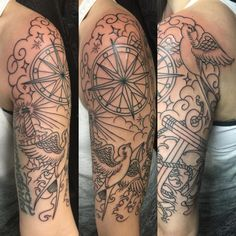 Nautical theme half sleeve #halfsleeve #tattoos #girlswithtattoos