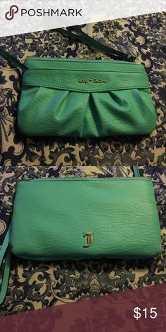 Juicy Couture sea foam green wristlet Very pretty. Like new. Will consider offers on any product. Juicy Couture Bags Clutches & Wristlets