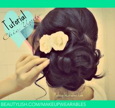 "Vintage Hairstyles Updo ""How to easy wedding hairstyles updos for medium long hair tutorial."" -there were about 50 hashtags here, but I deleted them. Medium Long Hair, Medium Hair Styles, Long Hair Styles, Wedding Hairstyles Tutorial, Simple Wedding Hairstyles, Up Hairstyles, Pretty Hairstyles, Formal Hairstyles, Elegant Hairstyles"