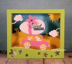 Snappy Scraps: Easter Shadow box card