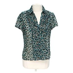 Animal Print Button-up Shirt