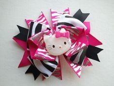 HELLO KITTY HAIRBOW~I could make this!