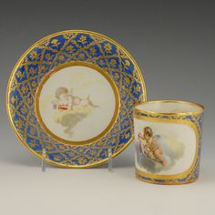 Russian Imperial Porcelain Factory Cabinet Cup and Saucer | John Atzbach Antiques
