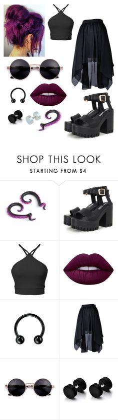 """Back to Black"" by hailstone360 ❤ liked on Polyvore featuring Lime Crime"