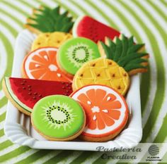 Fun fruit cookies