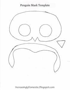 Penguin Mask Template