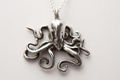Octopus necklace in .925 silver from Bakutis Design