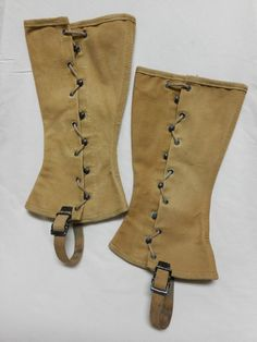 VINTAGE WWII U.S. MILITARY BOOT COVERS, CANVAS