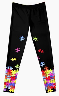 PREORDER - New Size! Autism Puzzle Leggings  - SHIPS Nov 25