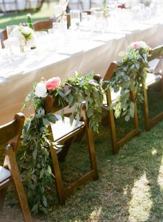 Greenery Chair Garland   photography by http://beauxartsphotographie.com/