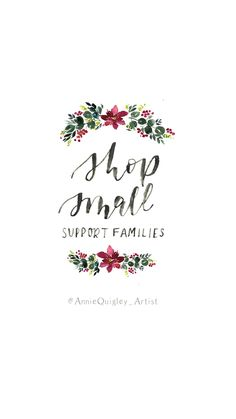 Small business Saturday graphic | shop small graphic | buy local | support small business |