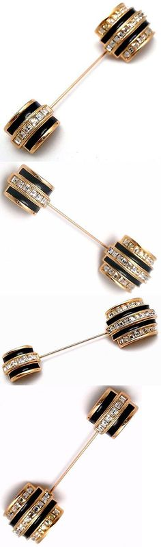 Pins Brooches 165894: Signed Christian Dior Stick Pin Brooch Gold Plated Set With Crystals New -> BUY IT NOW ONLY: $115 on eBay!