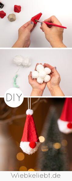 Christmas Crafts, Christmas Ornaments, Diy Blog, Holiday Decor, Winter, Kids, Diy Weihnachten, Beautiful, Egg Box Craft