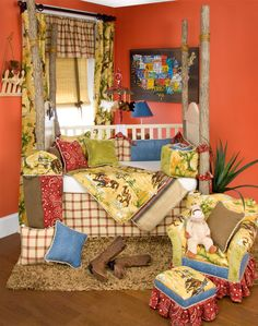 Love the colors, especially the orange wall- Cassidy & Banjo Western Nursery