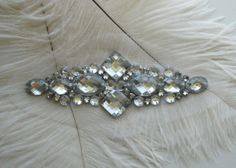 Crystal And Rhinestone Bead Applique by pinksewingmachine on Etsy, $10.50