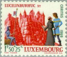 Sello: Castle Lucilinburhuc (Luxemburgo) (Castles) Mi:LU 799,Yt:LU 749