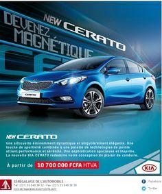 newsletter du concessionnaire Sénégalaise de l'Automobile pour le lancement de la nouvelle #kia #cerrato mars 2013