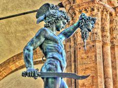 My favorite statue in Florence. Perseus slays Medusa.
