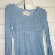 Limited Too sweater Light baby blue sparkly sweater. Lightweight Limited Too Sweaters