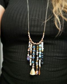 One of the most clicked tutorials is this #bohochic #statementnecklace Check out link to my blog in bio.#bohonecklace #diyjewelry #diynecklace #craft #crafting #bohotrend #happygirlycrafty #diy