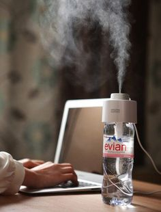 A $34 Cap That Turns Any Water Bottle Into A Humidifier...this is just cool! I'm going to be getting the 3D pen!!'