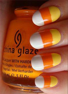 Candy Corn Nails nails halloween nail art nail ideas candy corn halloween pictures halloween images halloween ideas halloween nails
