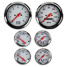 Set White Face Mechanical -- To view further for this item, visit the image link. (This is an affiliate link) Gauges Size Chart, Oil Pressure, Gauges Plugs, Interior Accessories, Motors, Jeep, Image Link, Lighting, Awesome