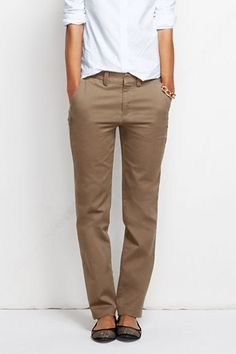 Women's Mid Rise Straight Leg Chino Pants from Lands' End $60 ...