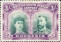 British South Africa Company, 11.11.1910, King George V., No.119, 3Sh purple/green. Stamped 192 USD. Unused 219 USD.