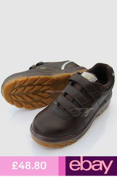 34901e5dd9d2 Men Brown Chef Shoes Safety Work Shoes Steel Toe Cap work Non-Slip
