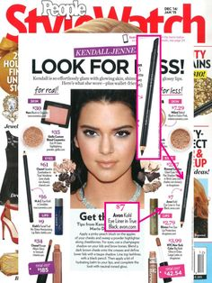 @stylewatchmag featured Avon Khol Eyeliner in their how-to article on getting Kendall Jenner's look for less