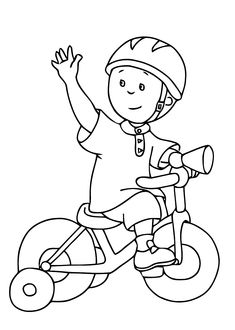 Caillou coloring pages for kids printable free