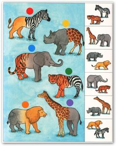 Welke dieren horen bij elkaar? Jungle Party, Jungle Theme, Jungle Animals, Animals And Pets, Tier Puzzle, Vida Animal, Le Zoo, Preschool Printables, My Little Baby