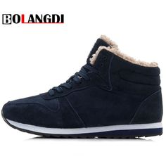 Cheap brand running shoes, Buy Quality running brand shoes directly from China running shoes Suppliers: Bolangdi Genuine Leather Winter Men Women Boots Warm Plush Sneakers Brand Outdoor Unisex Sport Shoes Comfortable Running Shoes Winter Work Shoes, Mens Winter Shoes, Winter Sneakers, Casual Sneakers, Sneakers Fashion, Casual Shoes, Winter Boots, Snow Sneakers, Fur Casual