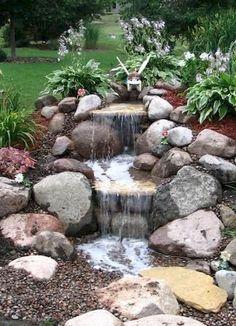 Cool 36 Stunning Rock Garden Landscaping Ideas