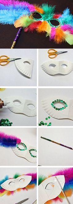 Como hacer antifaces für fiestas elegante o de carnaval - balconydecoration.ga - - Como hacer antifaces für fiestas elegante o de carnaval – balconydecoration. Kids Crafts, Diy Arts And Crafts, Craft Projects, Creative Crafts, Craft Ideas, Diy Ideas, Decor Ideas, Carnaval Diy, Feather Mask