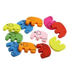 Slon 20ks - Elephant 20 pcs Dřevěný roztomilý slon k navlékání. Balení je po 20 ks, barvy jsou namixované.  Wooden very cute little elephant for jewellery making, especialy for the kids and children. The package is of 20 pcs and comes in random selection of colours. Velikost/Size:       cca/aprox. 30mm x 21 mm Provlékání/Hole:  cca/aprox. 2 mm