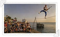 No old-fogies here!  #FloridaKeys  At 65, Will Soto still walks a tightrope three evenings a week, juggling and bantering with crowds as the undisputed star of Key West's famed sunset celebration at Mallory Square.Read more how Soto's highwire act still delights sunset watchers from around the globe.