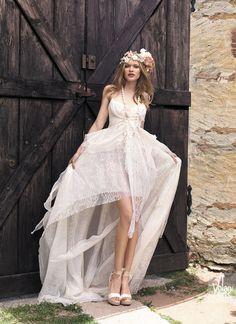 vestido de noiva leve estilo hippie com saias sobrepostas yolancris boho chic 2015