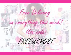 FREE DELIVERY ON EVERYTHING - **THIS WEEK ONLY** www.girlinmind.com