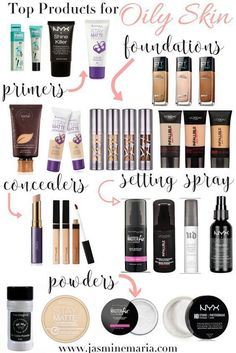 Oily skin? Here are my top makeup products for oily skin girls. #facecreamsforoilyskin #MyBeautyProductsTip