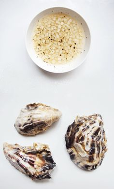 Freshly Shucked Oysters with Asian Pear Mignonette is a modern take on the classic raw oyster presentation.