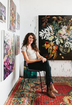 Artist Laura Jones in her studio in the Southern Highlands of NSW. Photo - Rachel Kara for thedesignfiles.net