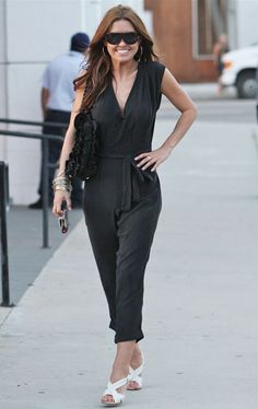 Audrina Partridge in a McQ jumpsuit